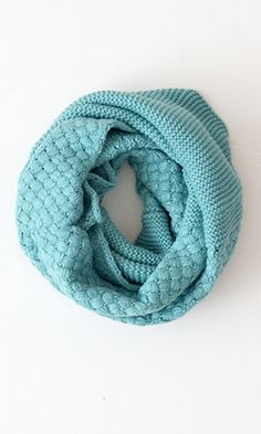 Stay A Little While Infinity Neck Warmer, Teal.  Don't get the chills this winter!