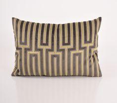 Maze Grey Lumbar Pillow design by Baxter Designs