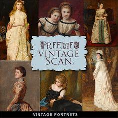 Freebies Kit of Vintage Portrets
