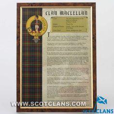 MacLellan Clan History Print