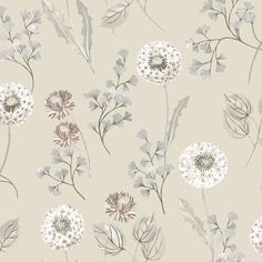 Cassara Cream and Taupe wallpaper by Albany