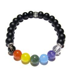 Amazon.com: Edgy Soul Chakra Balance Bracelet (Large 7.5 to 8 inches): Jewelry