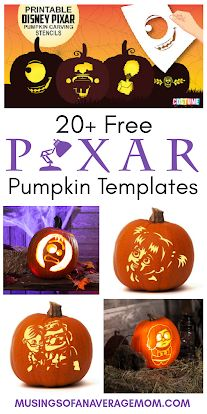 More than 20 free Disney Pixar Pumpkin Carving Templates Halloween Activities, Halloween Projects, Halloween Ideas, Pumpkin Template, Pumpkin Carving Templates, Up Pixar, Disney Pixar, Holidays Halloween, Halloween Crafts