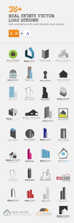 30+ Real Estate Vector Logo Ideas by Wassim Awadallah, via Behance