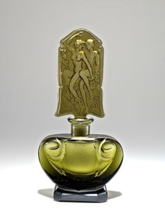 c1930 Ingrid Czech Grey Crystal Perfume Bottle : Lot 106
