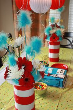 @Beth J Mason don't you think this would suit a shower for a child of Jason......Dr. Seuss baby shower! Love it!