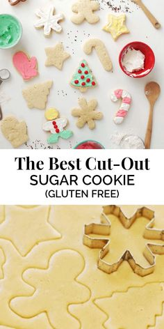 These Best Cut-Out Sugar Cookie Recipe will become your new go-to gluten-free holiday sugar cookie recipe. The Butter Half Gluten Free Christmas Cookies, Gluten Free Sugar Cookies, Gluten Free Cookie Recipes, Gluten Free Treats, Sugar Cookies Recipe, Gluten Free Baking, Christmas Treats, Christmas Baking, Free Recipes