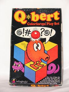 Vintage 1983 Q-Bert Colorforms Play Set - I had these!