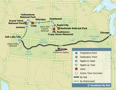Yellowstone, Grand Tetons & Mt. Rushmore Tour :: Vacations By Rail ::