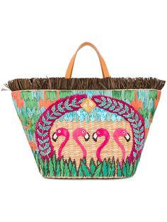 Aranaz sac cabas à motif flamants roses.