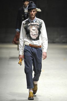 Bananas! I went there. Andrea Pompilio Fall 2012 Menswear