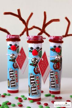 Rudolph the Red Nosed Reindeer DIY Christmas Candy. Cute Christmas Gift Ideas | Teacher Christmas Gifts | Reindeer DIY | Christmas DIY | Christmas Crafts | Kids Crafts