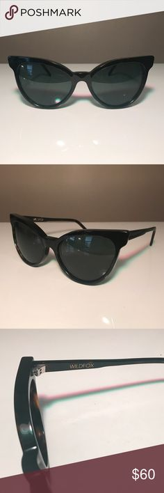Wildfox cat eye sunglasses Wildfox La Femme cat eye sunglasses. All black, dark lenses. Perfect condition, no scrapes or damages. Does not some with case. Please let me know if you have any questions! Wildfox Accessories Sunglasses