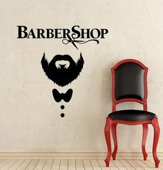 Items similar to Barber Shop Wall Decal Hairdressing Salon Vinyl Sticker Decals Beauty Haircut Men Mustache Scissors Window Art Decor on Etsy Barber Haircuts, Haircuts For Men, Haircut Men, Beauty Salon Decor, Beauty Salon Interior, Interior Shop, Hairdresser Logo, Hair Salon Names, Barber Logo