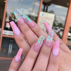 nails♡ uploaded by Jewlz💎 - nails♡ uploaded by Jewlz💎 Image shared by Jewlz💎. Find images and videos about pink, nails and butterflies on We Heart It – the app to get lost in what you love. Summer Acrylic Nails, Best Acrylic Nails, Nail Summer, Best Nail Polish, Acrylic Nail Art, Gel Polish, Aycrlic Nails, Swag Nails, Gorgeous Nails