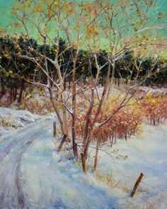 Bill_Inman_Half_a_Mile_to_Go_16x12_Winter_Trees_Oil_Painting