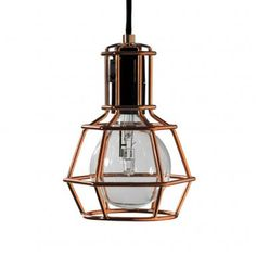 The Work Lamp Suspension Lamp was designed by the design trio Form us with Love for the Design House Stockholm. Who doesn't know it, the popular work lamp / wo Pendant Lamp, Pendant Lighting, Design House Stockholm, A Table, Table Lamp, Work Lamp, Gold Work, Led, Interiors