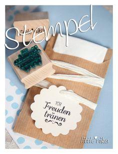 Einladungskarten - Stempel Hochzeit für Freudentränen *heartbeat* - ein Designerstück von littlenika bei DaWanda