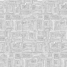 Modern Quilt Studio - The Color Collection - Maze in White