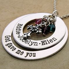 God Gave Me You Double Loop Necklace