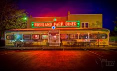 dot's diner bisbee az   Highland Park Diner in Rochester new York as an HDR Photograph