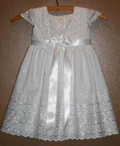 Anglaise Embroidered Eyelet Baptism Dress  Victoria by TinyFingers, $68.00  Violet's baptismal gown.