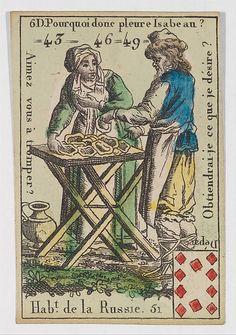 Hab.t de la Russie from Playing Cards (for Quartets) 'Costumes des Peuples Étrangers'