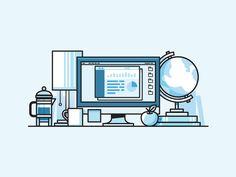 #Illustration Design of work space