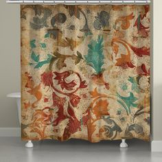 Shop for Laural Home Abstract Floral Shower Curtain (71-inch x 74-inch). Get free delivery at Overstock.com - Your Online Bath