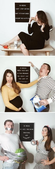 In a series of funny pregnancy photos, Maya Vorderstrasse offers an honest glimpse into life as an expectant mother.