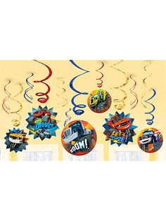 Looking for Blaze and the Monster Machines Value Pack Foil Swirl Decorations for your next bash? Locate Birthday in a Box for the popular and party invitations and bargain prices.