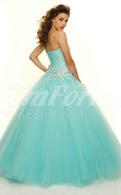 Candy Pink Strench Tulle Sweetheart Lace-up Ball Gown Appliques Quincenera Dresses(PRJT04-0259) - PromFormal.co.uk