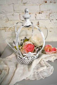 Painted Cottage Chic Shabby Royal Crown [DCCR] - $18.95 : The Painted Cottage, Vintage Painted Furniture