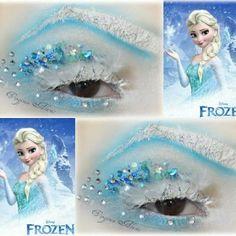 Crystal and glitter icy fantasy eye art inspired by Disney's Frozen by @muavirginiaalanis | Webstagram