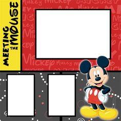 Disney Fab 5 Digital Scrapbook Premade Kit • 5 Pages