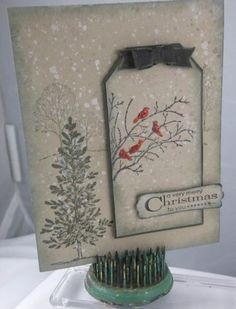 Card by Carol Payne  (111313)  [Stampin' Up!  Gorgeous Grunge, Lovely as a Tree, Serene Silhouette]