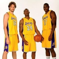 My boys: Gasol, Kobe and Bynum....Let's go Lake Show!