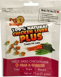 Pet N Shape Chicken Liver PLUSTM Treats for Cats Peas and Carrots -- 0.75 oz -- To view further for this item, visit the image link.