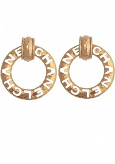 Chanel Cut Out Circle Earring WGACA Vintage