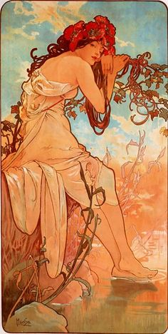 Mucha- The Seasons: Summer (1896)
