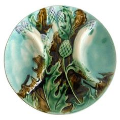 Check out this item at One Kings Lane! Majolica Asparagus Wall Plate