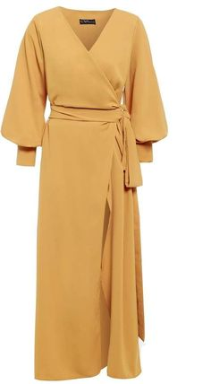 Amber Wrap Maxi Dress by Sarvin Day Dresses, Casual Dresses, Formal Outfits, Modest Fashion, Fashion Dresses, Luxury Clothing Brands, Floral Dress Outfits, Maxi Wrap Dress, Look Chic