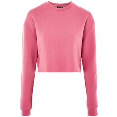 Topshop Cropped Sweatshirt ($29) ❤ liked on Polyvore featuring tops, hoodies, sweatshirts, topshop, pink, cropped tops, cropped sweatshirt, cut-out crop tops, topshop tops and pink sweatshirts