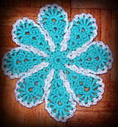 Lazy Daisy Dishcloth pattern by Maggie Weldon