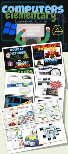 •This is a bundle of activities for Elementary Students using a variety of programs including Microsoft Office, Google Drive and other free online software. •Screen shots and easy to follow instruction bubbles are used to guide students through the activities.