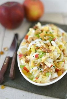 This is really the TASTY recipe for chicory salad! Nice and fresh and the perfect c . Veggie Recipes, Salad Recipes, Vegetarian Recipes, Cooking Recipes, Healthy Recipes, Food For Thought, Salade Caprese, Good Food, Yummy Food