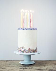 A tall and beautiful birthday cake - Copenhagen Cakes