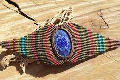 pulseras de piedras preciosas de macrame hecho a por ARTEAMANOetsy