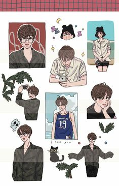 Exo Stickers, Cute Stickers, Cute Illustration, Character Illustration, Paper Collage Art, Exo Fan Art, Korean Art, Kpop Fanart, Aesthetic Art