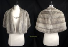 fabulous little silver mink stole for your perfect wedding or formal event, only at moxiefurs.com! *SOLD*